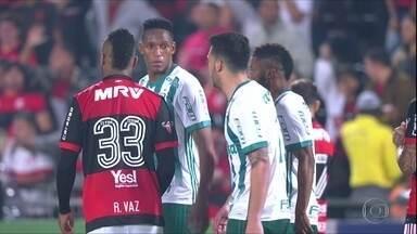Com Luan e Mina na zaga, Palmeiras enfrenta o Avaí nesta segunda - Com Luan e Mina na zaga, Palmeiras enfrenta o Avaí nesta segunda