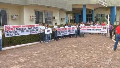 Agentes Comunitários de Saúde protestam em frente à prefeitura de Santarém - Agentes cobram equipamentos para trabalho, pagamento da insalubridade e valorização profissional.