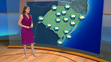 Tempo: há previsão em chuva para todas as regiões do RS na terça-feira (21) - Assista ao vídeo.