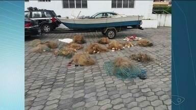 Bom Jesus do Norte tem operação contra a pesca predatória no Rio Itabapoana, no Sul do ES - Redes foram apreendidas.
