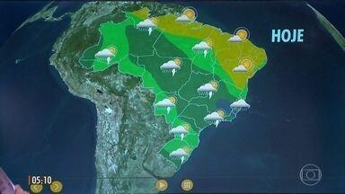 Previsão de dia nublado entre o RJ, Rio Doce e o ES - Veja como fica o tempo nesta terça-feira (21) em todo o Brasil.