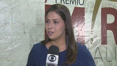 Repórter da Rede Amazônica Ariquemes é finalista no 7º Prêmio MP de Jornalismo - A repórter Franciele do Vale ficou em segundo lugar na categoria Telejornalismo