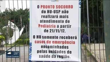 Pronto-socorro do hospital da USP não está mais atendendo crianças - O hospital só vai receber os casos de emergência que forem encaminhados por unidades de saúde da região.