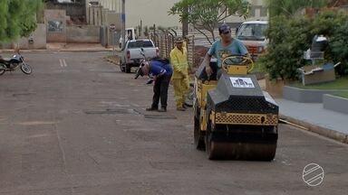 MPE questiona prefeitura de Campo Grande sobre qualidade da operação tapa-buracos - De acordo com a secretaria de obras do município, o novo contrato prevê revitalização do asfalto de Campo Grande.