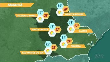 Sol predomina em toda a região de Ponta Grossa a partir desta quinta-feira (23) - Uma massa de ar seco deixa o tempo estável.