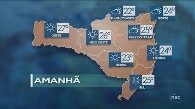 Veja como ficará o tempo em todas as regiões de SC nesta quinta-feira (23) - Veja como ficará o tempo em todas as regiões de SC nesta quinta-feira (23)