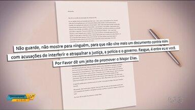 Cartas que teriam sido escritas pro Abib Miguel revelam privilégio que ele teria na prisão - Nossa equipe teve acesso aos documentos.