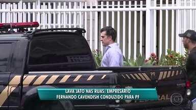 Fernando Cavendish é conduzido para Polícia Federal - O empresário Fernando Cavendish foi conduzido à Polícia Federal na manhã desta quinta-feira (23). Foui preso o empresário Jorge Sadala.