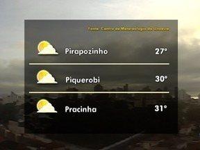 Meteorologia prevê tempo fechado e sem chuva para esta quinta-feira - Confira como ficam as temperaturas na região.