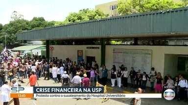 Pronto-socorro infantil do HU da USP é fechado - A crise financeira na USP tem mais uma consequência. O pronto-socorro infantil do Hospital Universitário - o HU -- foi fechado na terça e neste momento manifestantes fazem um protesto.