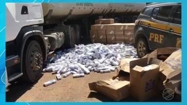 PRF apreende cigarro contrabandeado, em Primavera do Leste - PRF apreende cigarro contrabandeado, em Primavera do Leste.