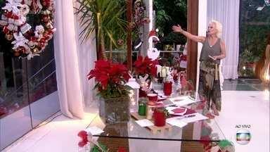 Ana Maria mostra a decoração de Natal da Casa de Cristal - Falta menos de um mês para o Natal! Aproveite para embelezar a sua casa