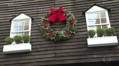 Guirlanda é um dos enfeites mais típicos do Natal - Tradição natalina decora portas no mês de dezembro. Na Casa de Cristal, Ana Maria dá dica para uma deliciosa guirlanda de aperitivos