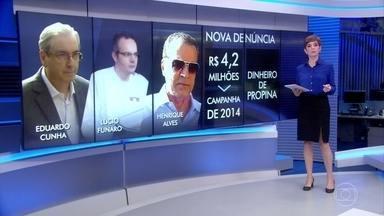 MPF no RN denuncia ex-presidentes da Câmara e o doleiro Lúcio Funaro - Henrique Eduardo Alves, Eduardo Cunha e Lúcio Funaro são denunciados por lavagem de dinheiro e corrupção passiva.