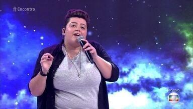 Ana Vilela canta 'Promete' - Cantora emociona a plateia do 'Encontro'
