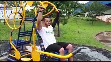 Desafio + Saúde: personal mostra como fazer exercícios em academias ao ar livre - As academias em praças das cidades podem ser usadas para quem quer se fortalecer ou emagrecer.
