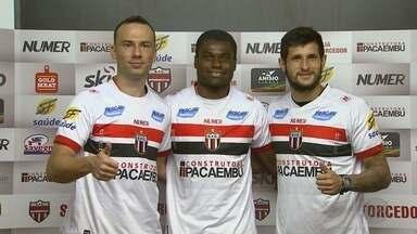 Confira os bastidores da apresentação dos primeiros reforços do Botafogo-SP - Time está reforçando o elenco para a temporada 2018.