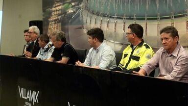 Coletiva mostra o planejamento estratégico para o Villa Mix Fortaleza 2017 - Autoridades de várias áreas, como policiamento, trânsito, entre outras, falam sobre as ações conjuntas para o sucesso do evento na capital cearense neste sábado (09/12)