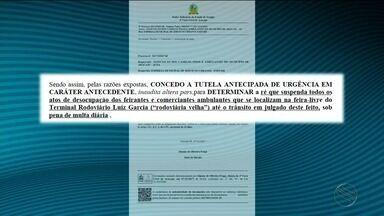 Justiça concede liminar que garante a permanência de feirantes no Centro de Aracaju - Justiça concede liminar que garante a permanência de feirantes no Centro de Aracaju.