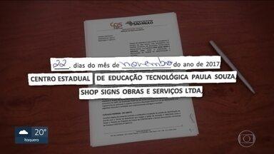 Centro Paula Souza gasta mais de R$ 1,4 milhão com a compra de painéis e placas - Centro Paula Souza diz que a empresa contratada apresentou menor valor.