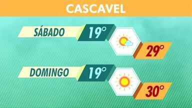 Previsão de sol e calor para este sábado - No sábado, a máxima deve chegar aos 29ºC.