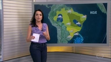 Veja a previsão do tempo para esta semana em todo o Brasil - Há previsão de temporais para o oeste da Região Norte e para a faixa que abrange o sul do Tocantins, o norte de Goiás, o norte de Minas Gerais e a faixa oeste da Bahia.