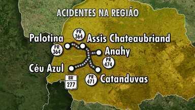 Oito pessoas morrem em acidentes nas rodovias da região oeste - Todas as mortes foram registradas durante o fim de semana.
