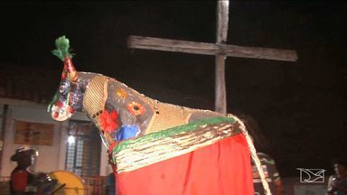 Grupos de bumba meu boi realizam cerimônia de morte de boi em Caxias - Um dos grupos mais tradicionais da cidade matou o boi que agora vai ficar num museu.