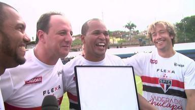 Chulapa se despediu dos gramados no domingo - Atleta é um dos grandes craques do futebol brasileiro.
