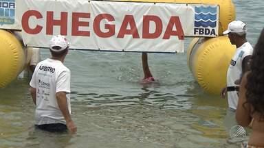 Travessia entre Mar Grande e Salvador ajuda a revelar novos talentos no esporte baiano - Saiba quem são os vencedores da travessia Baía de Todos-os-Santos.
