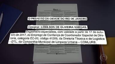 Diário Oficial do Rio publica nomeação de Lenilson de Oliveira - Lenílson de Oliveira assumiu uma vaga na Comlurb.