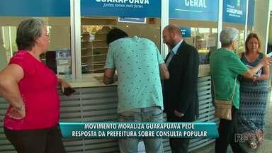 Movimento Moraliza Guarapuava cobra resposta da prefeitura sobre consulta popular - A consulta popular é sobre um pedido de redução no orçamento da Câmara de Vereadores da Cidade.