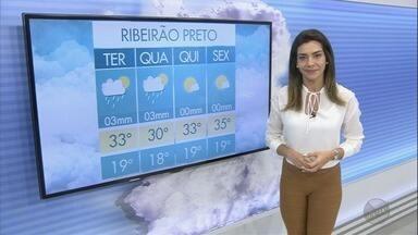Veja a previsão do tempo para esta terça-feira (12) na região de Ribeirão Preto - O sol aparece e há expectativa de chuva isolada e passageira para algumas cidades.