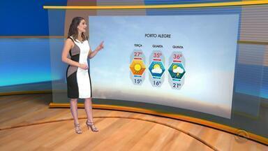 Tempo: amanhecer da terça-feira (12) deve ser com temperaturas amenas no RS - Assista ao vídeo.