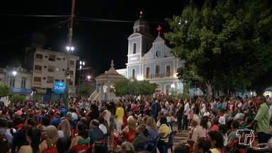 Prefeito de Santarém anuncia revitalização da Praça Matriz - O anuncio foi durante a cerimônia das comemorações do centenário da festa de Nossa Senhora da Conceição.
