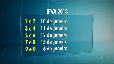 Pagamento do IPVA de 2018 começa a vencer no dia 10 de janeiro - O contribuinte que pagar o imposto à vista tem desconto de 3%.