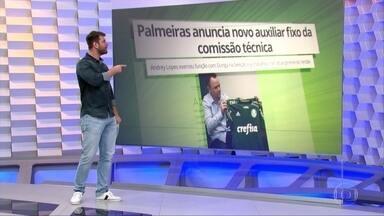 Andrey Lopes é o novo auxiliar técnico da comissão fixa do Palmeiras - Andrey Lopes é o novo auxiliar técnico da comissão fixa do Palmeiras