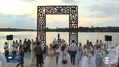 Monumento de Iemanjá é restaurado e reinaugurado na Lagoa da Pampulha - Reinauguração faz parte das comemoração dos 120 anos de BH