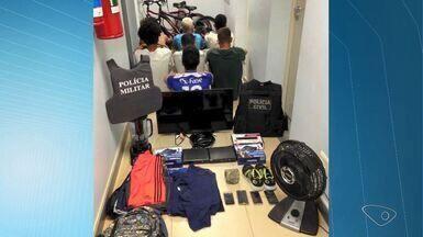 Sete suspeitos de cometer arrombamentos são detidos em Pinheiros, ES - Quadrilha foi identificada após prisão em flagrante de dois jovens.