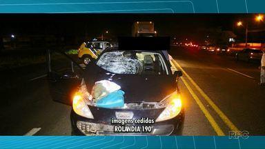Mulher morre vítima de atropelamento depois de descer do ônibus em Rolândia - O acidente foi na BR 369.