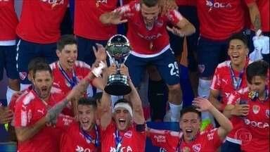 Independiente empata com o Flamengo, no Maracanã, e é campeão da Copa Sul-Americana - Independiente empata com o Flamengo, no Maracanã, e é campeão da Copa Sul-Americana