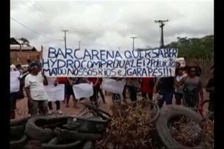 Manifestantes interditam acesso ao polo industrial de Barcarena - Protesto é organizado pelo movimento que pede indenização aos moradores atingidos por danos ambientais na região.