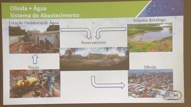 Projeto pretende terminar com rodízio de água em 15 bairros de Olinda - Compesa detalhou obras, iniciadas neste ano e com previsão de conclusão em 2021.