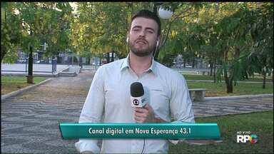 Nova Esperança agora tem sinal digital da RPC - Pra pegar o canal digital tem que sintonizar o 43.1