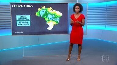 Previsão é de chuva forte para a região Norte do Brasil - A área de alerta passa a englobar o oeste de Minas Gerais, Goiás, Maranhão e avança por toda a região Norte.