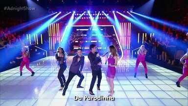 """""""Parodinha"""" encerra o último programa da temporada - Ao lado de Adnet, Anitta, Ana Furtado e Gui Santana levantam a plateia"""