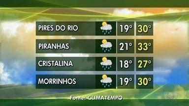 Confira a previsão do tempo para esta semana em Goiás - Período chuvoso proporciona a volta de rebanhos as pastagens.