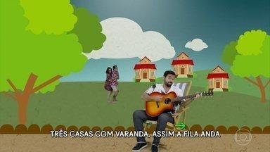 'Clipa Aí' recebe Sophia Abrahão e Eduardo Sterblitch - Os atores participam de clipe da música 'Vagabundo sim senhor'