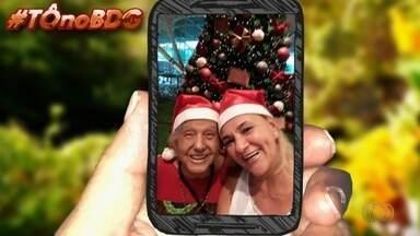 Telespectadores mandam fotos para desejar Feliz Natal - Eles fizeram questão de mostrar como celebram a data.
