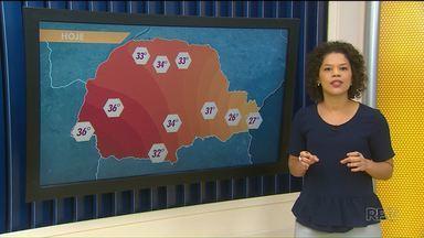 Veja como fica a previsão do tempo para está segunda-feira - Em Porto Rico, Umuarama e Altônia a máxima deve chegar a 34ºC.